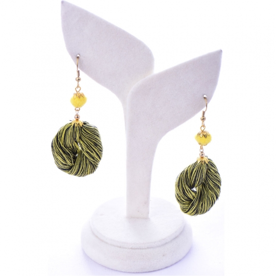 Beads India Forest Green 1404491 Earrings