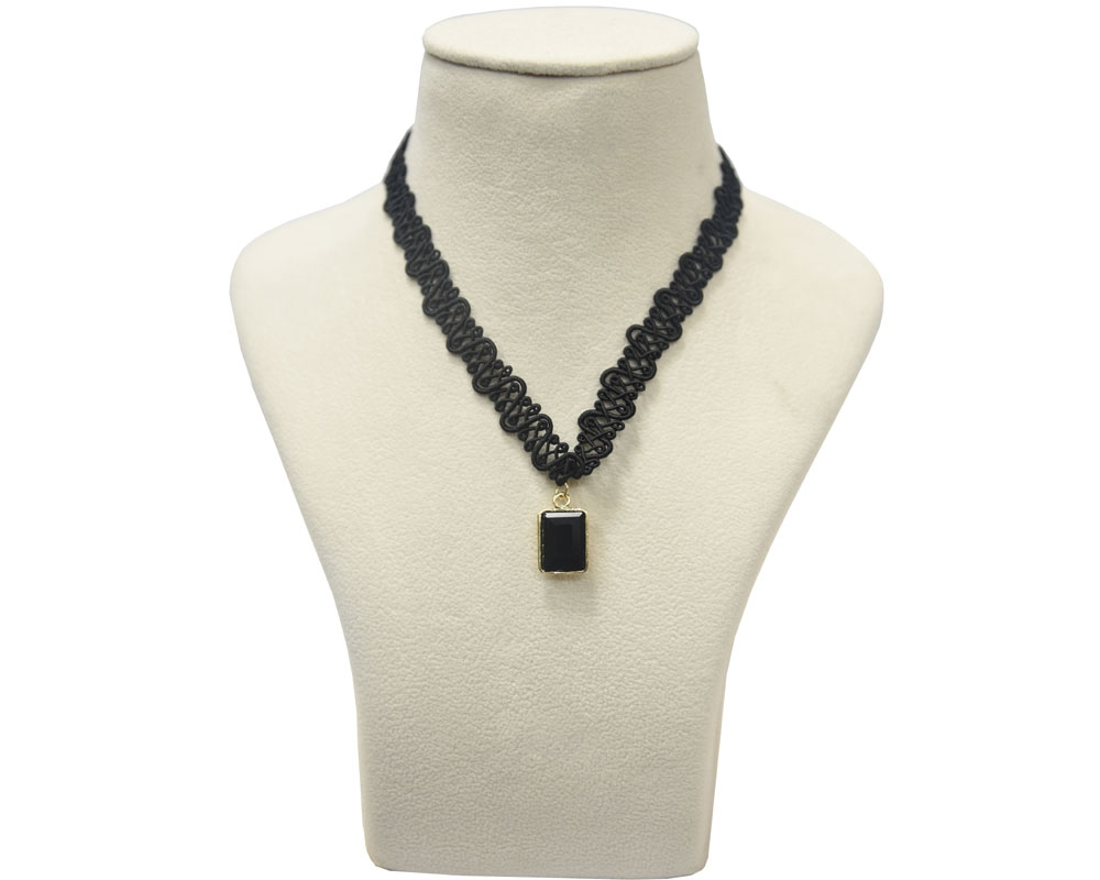 Beads India Jet Black Necklace 031016