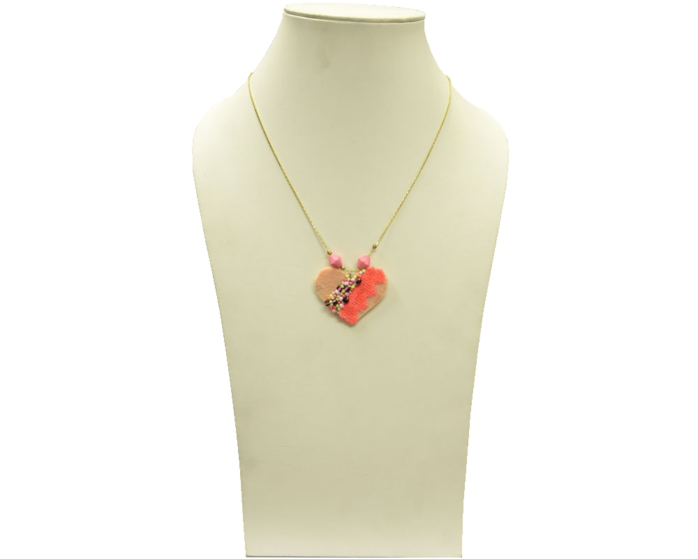 Beads India Peach Amber 16112016 Necklace