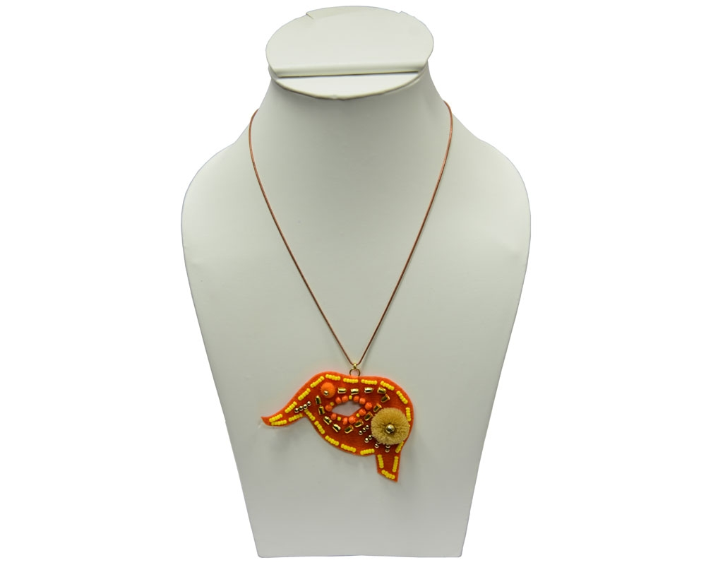 Beads India Blazing Orange 1404385 Necklace