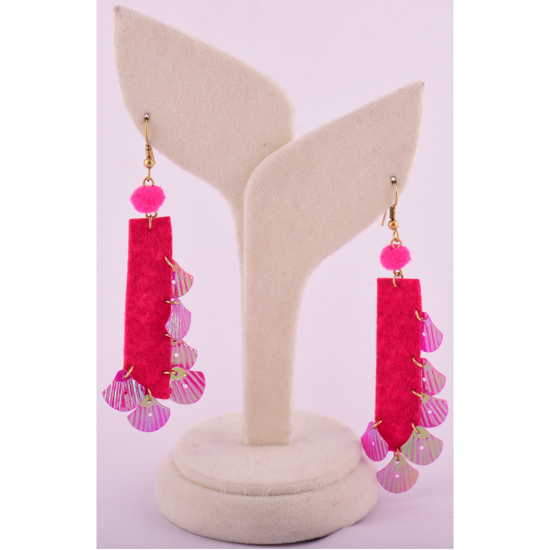 Beads India Beetroot Purple 1404422 Earrings