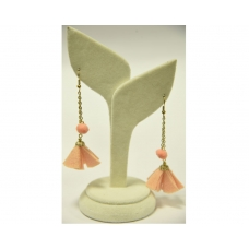 Beads India Tender Peach 22112016 Earrings