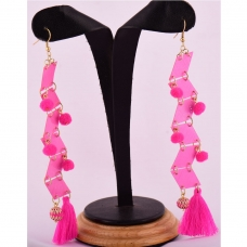 Beads India Pink Carnation 1404431 Earrings
