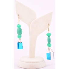 Beads India Marine Green 1404455 Earrings
