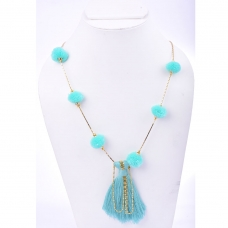 Beads India Aqua Green 1404555 Necklace